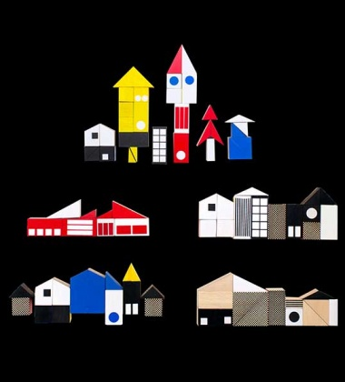 Układanka Klocki BLOCKHAUS Inspired by Bauhaus 40 pcs