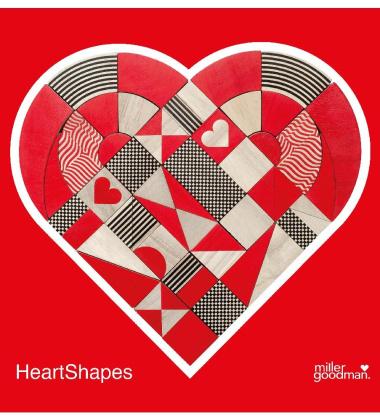 Układanka Klocki HEARTSHAPES Set of 50 pcs
