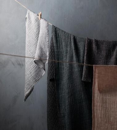 Ręcznik z gniecionego lnu NYYTTI 65x65 Lniany