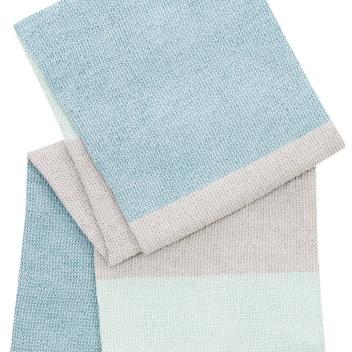Ręcznik kąpielowy TERVA 65x130 Biało-Multi-Miętowy
