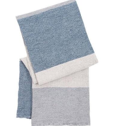 Ręcznik kąpielowy TERVA 65x130 Biało-Multi-Granatowy