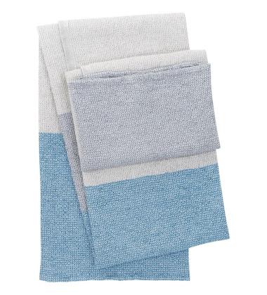 Ręcznik kąpielowy TERVA 65x130 Biało-Multi-Niebieski