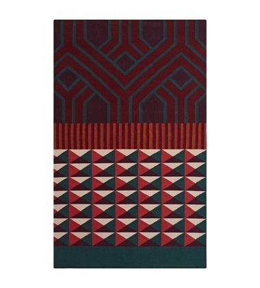 Kilim wełniany NDEBELE RED 170x240 by Sandra Figuerola