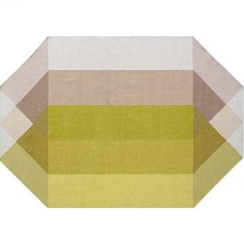 Kilim z recyclingu 170x220 DIAMOND Pink-Yellow by Charlotte Lancelot