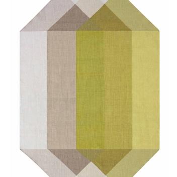 Kilim z recyclingu 300x390 DIAMOND Pink-Yellow by Charlotte Lancelot