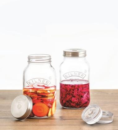 Zestaw słoików do kiszenia i kimchi KIL 1L Set 2 by Kilner