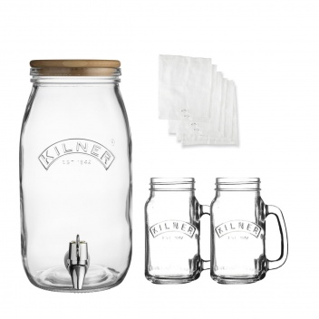 Zestaw do KOMBUCHA Drink Set 3 Litry + 2x 0,4L by Kilner