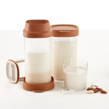 Naczynie do domowego mleka roślinnego VEGGIE DRINK Set 2 by Lekue