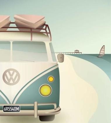 Poster 50x70 VW CAMPER By ViSSEVASSE