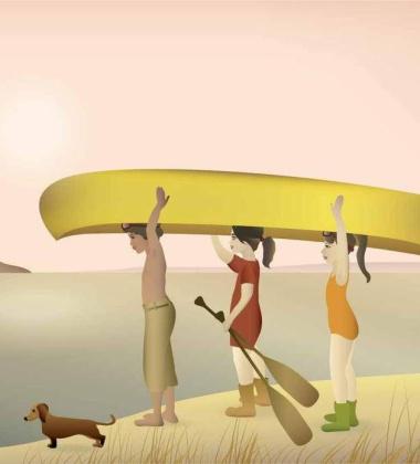 Poster 30x40 CANOE By ViSSEVASSE