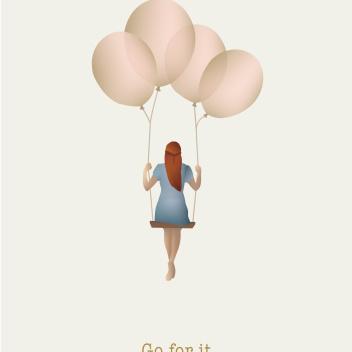 Kartka okolicznościowa GO FOR IT Balloon Dream A6 10,5x15 cm