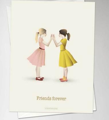 Kartka okolicznościowa FRIENDS FOREVER Clapping Girls A6 10,5x15