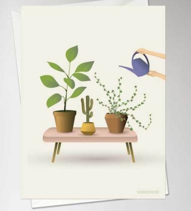 Kartka okolicznościowa GROWING PLANTS A6 10,5x15