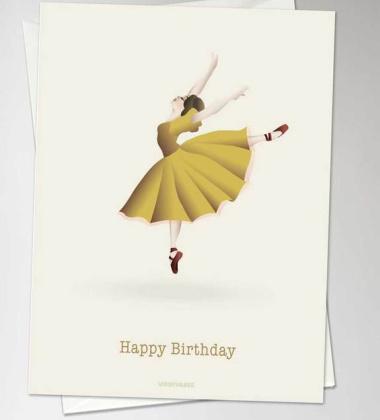 Kartka urodzinowa BALLERINA A6 10,5x15