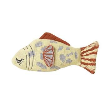 Poduszka Przytulanka FRUITICANA LEOPARD FISH RATTLE 21x11