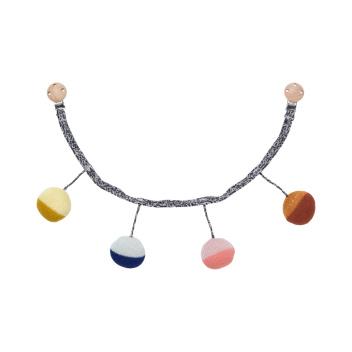 Zawieszka dziecięca Ball Knitted Pram Chain 6x55 cm