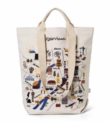 Torba wyszywana COPENHAGEN Tote Bag 45x44