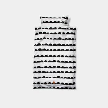 Pościel dziecięca HALF MOON Baby Set 70x100 Black-White