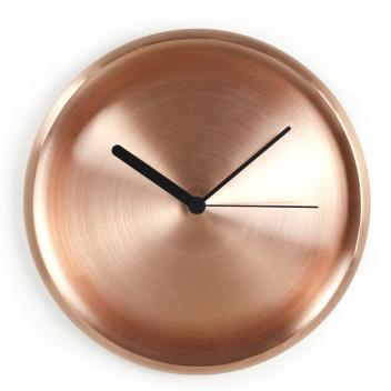 Zegar ścienny TURI 28 cm Miedziany