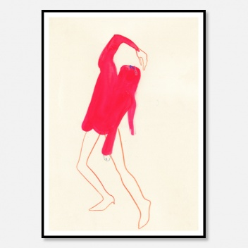 Poster 50x70 PINK POSE by Amelie Hegardt