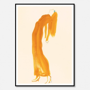 Poster 50x70 SAFFRON DRESS by Amelie Hegardt