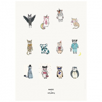 Poster 50x70 ALL TOGETHER NOW by Mado