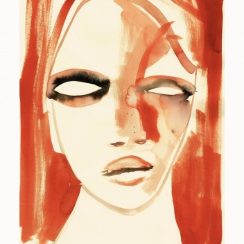 Poster 50x70 RED PORTRAIT by Loulou Avenue