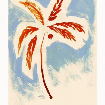 Poster 50x70 STORMY PALM by Loulou Avenue