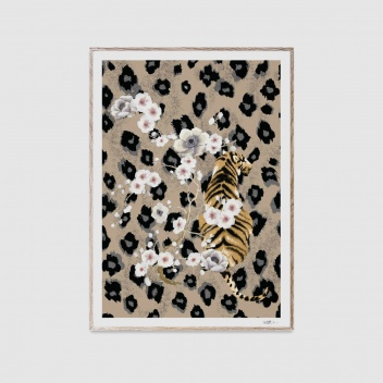 Poster 50x70 TIGER by Naja Munthe