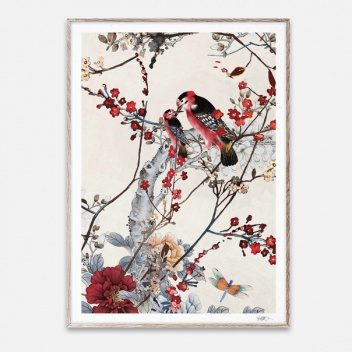 Poster 50x70 BIRDS by Naja Munthe