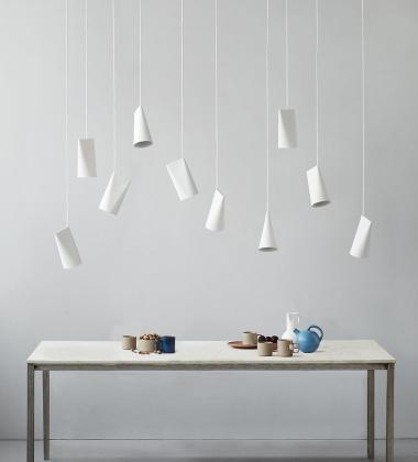 Lampa wisząca ceramiczna CERAMIC PENDANT NARROW 22x11,2 OFF WHITE