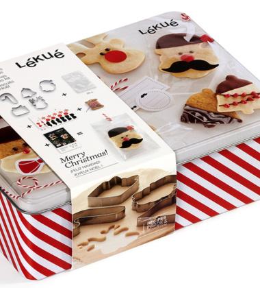 Zestaw foremek do ciasteczek w ozdobnej puszce CHRISTMAS BOX by Lekue