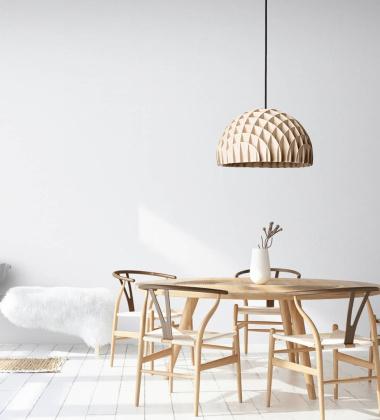 Lampa wisząca 40 cm ARC Pendant Birch Plywood