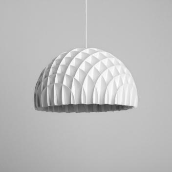 Lampa wisząca 40 cm ARC Pendant White Polystyrene