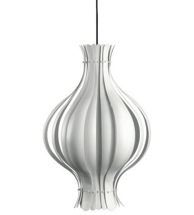 Lampa wisząca Onion 45x69 Biała Matowa