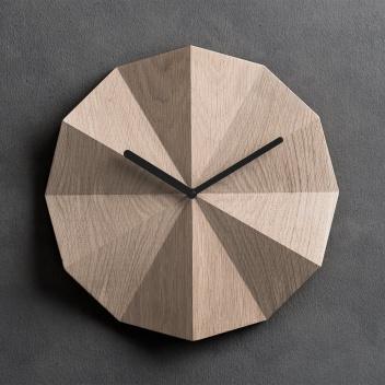 Zegar ścienny 28 cm DELTA Clock Oak BL