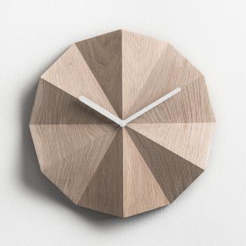 Zegar ścienny 28 cm DELTA Clock Oak WH