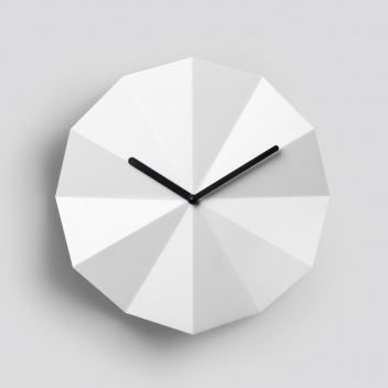 Zegar ścienny 28 cm DELTA Clock White