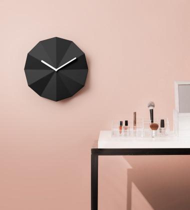 Zegar ścienny 28 cm DELTA Clock Black