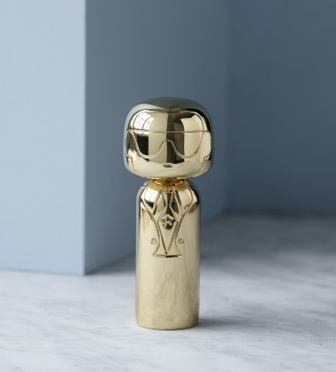 Laleczka Kokeshi KARL 14,5 cm GOLD Limited Edition
