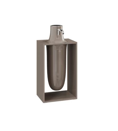 Dozownik do mydła INSIDE 10,2x7,5x21 Glossy Mink Grey