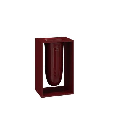 Pojemnik na szczotki INSIDE 10,2x7,5x16,4 Ruby Red