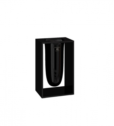 Pojemnik na szczotki INSIDE 10,2x7,5x16,4 Glossy Black