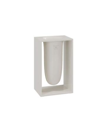Pojemnik na szczotki INSIDE 10,2x7,5x16,4 Glossy Stone