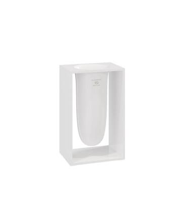 Pojemnik na szczotki INSIDE 10,2x7,5x16,4 Glossy White
