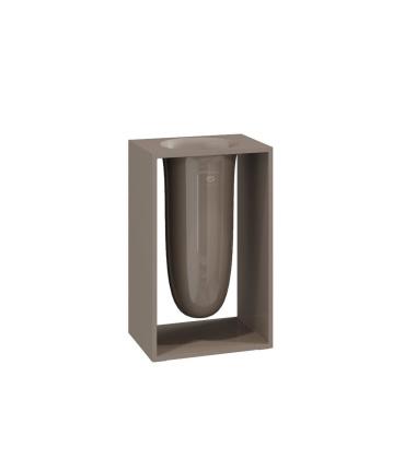 Pojemnik na szczotki INSIDE 10,2x7,5x16,4 Glossy Mink Grey