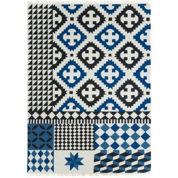 Kilim wełniany PALERMO BLUE 150x200 by Sandra Figuerola