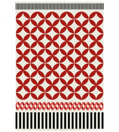 Kilim wełniany CATANIA ALFOMBRA RED 150x200 by Sandra Figuerola