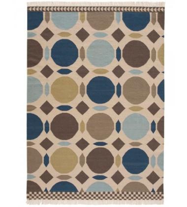 Kilim wełniany CANADA BROWN-BLUE 150x200 by Sandra Figuerola
