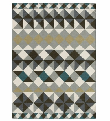 Kilim wełniany MOSAIEK GREY 150x200 by Sandra Figuerola